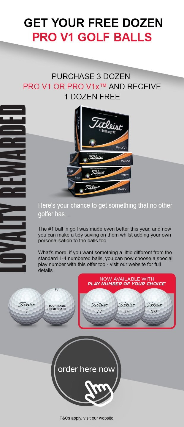 Titleist 4 for 3 - £44.99 - new participants